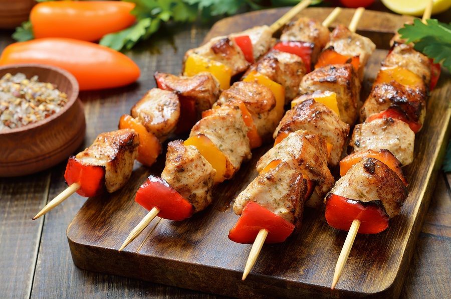Grilled Chicken Shish Kabobs with Keto Barbecue Sauce Recipe