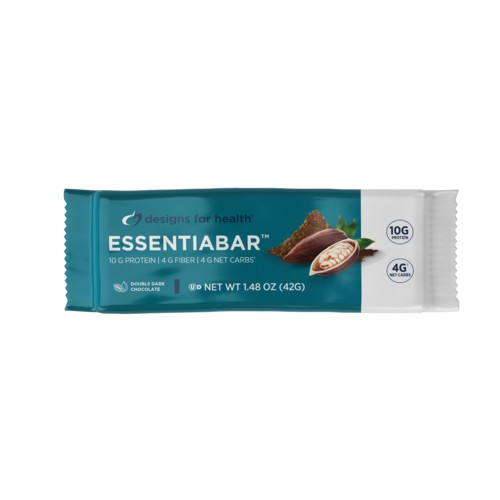 EssentiaBar Double Dark Chocolate Protein Bar - Box of 18 Bars